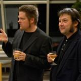 Christian Greifendorf und Richard Géczi, erster Vorsitzender des Kunstbauraum e.V.