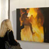"""Das Gemälde """"Run Boy Run"""" vom artig-Kollegen Krešimir Crash Vorich"""