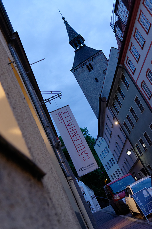 Landsberg, Schlossergasse by night
