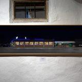 Wahllokal, 2017, Handy-Fotos / Collage (Cavallino Treporti); Pigmentdruck auf Bütten, 51 x 195 cm (inkl. Rahmen), 1/10