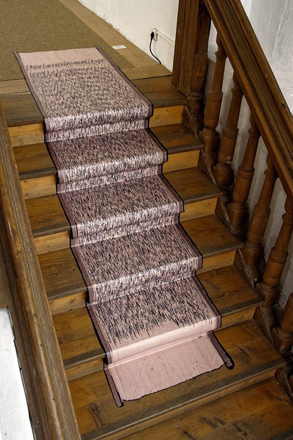 Banalität des Bösen, 2016, Fußbodenaufkleber, aus der Serie Denkmuster
